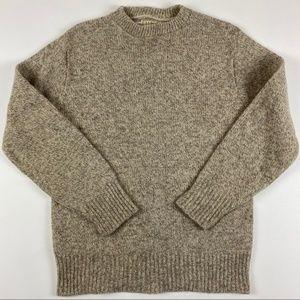L.L. Bean Mens Wool Cable Knit Sweater XL Tall